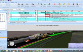 Рис. 1. 4D-модель строительства автомобильной дороги