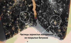Рис. 9.  Асфальтобетон, изготовленный горячим способом